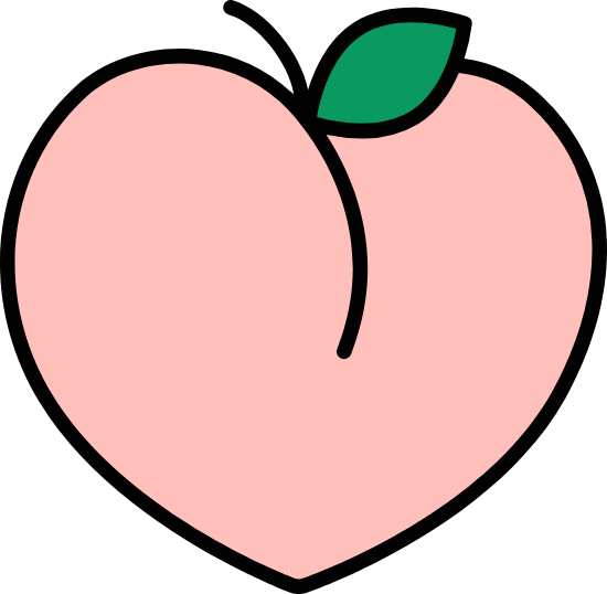Outlined Peach