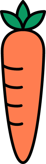 Outlined Carrot