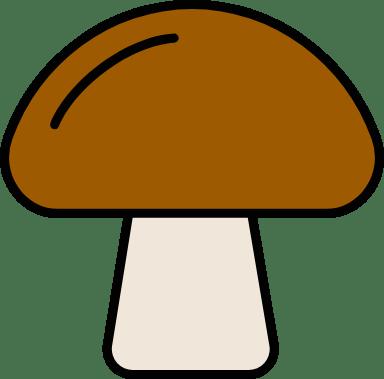 Outlined Mushroom