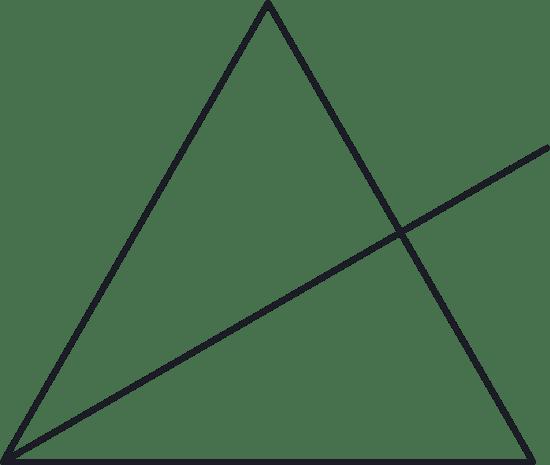 Split Triangle Glyph