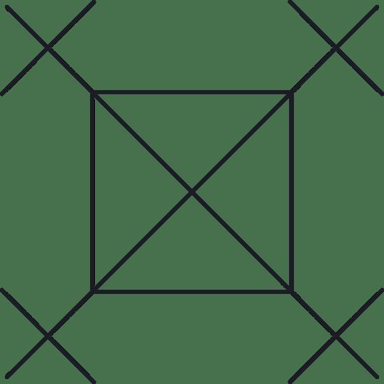 Square X Glyph