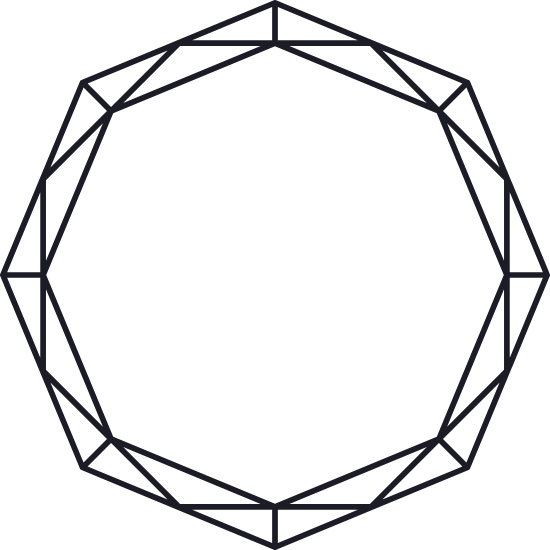 Round Faceted Glyph