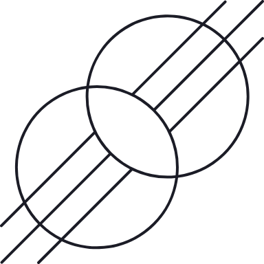 Hashed Circles Glyph