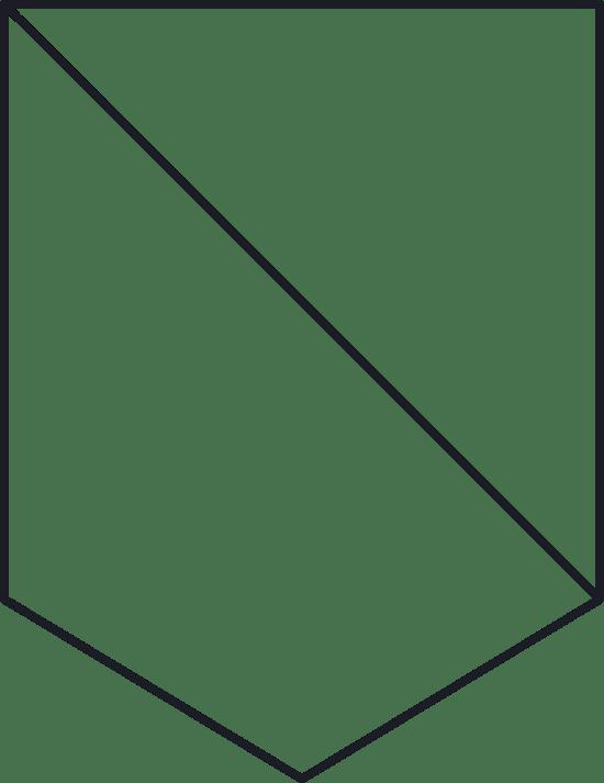 Diagonal Shield Glyph