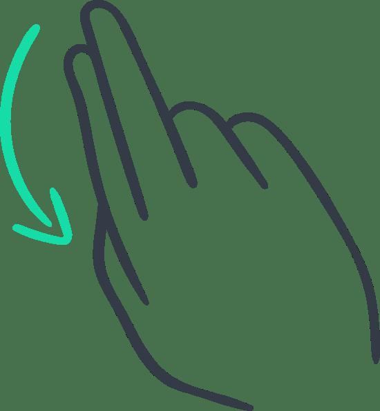 Two-Finger Swipe Down