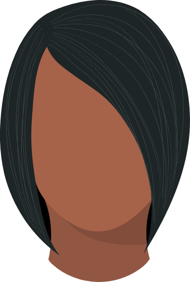 Straight Side Part