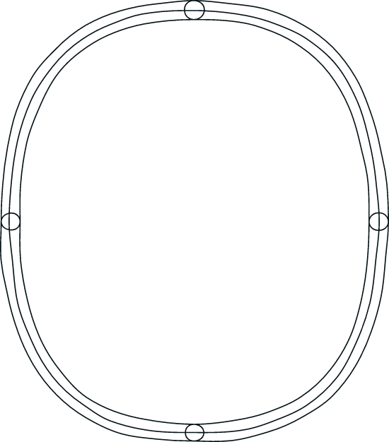 Drawn Ovoid Frame