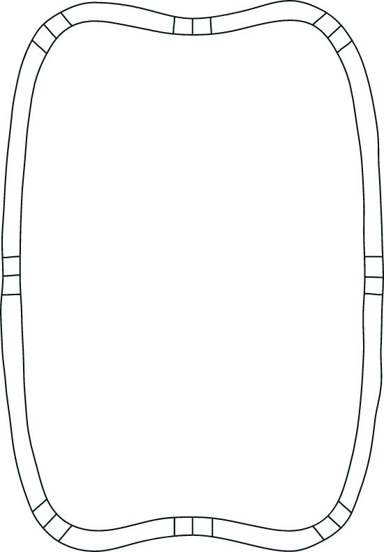 Drawn Concave Frame
