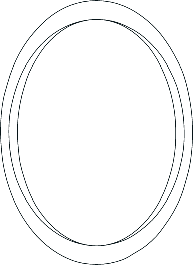 Drawn Oval Frame
