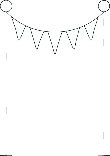 Drawn Bunting Frame