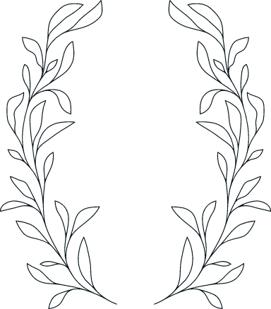 Drawn Laurel Frame