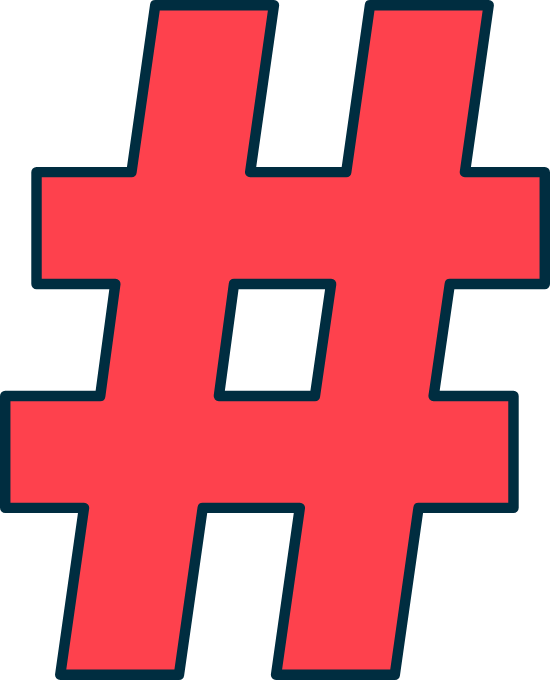 Tilted Hashtag