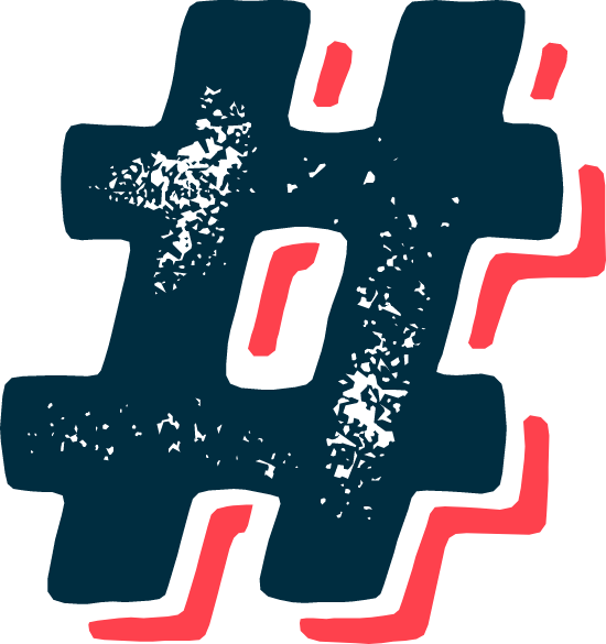 Scuffed Hashtag