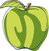 Sketched Green Apple