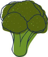 Sketched Broccoli