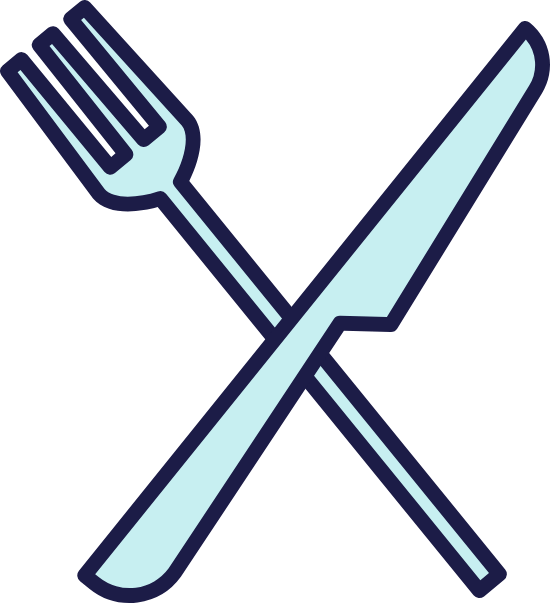 Iconic Knife & Fork