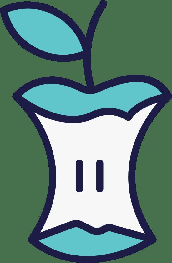 Iconic Apple Core