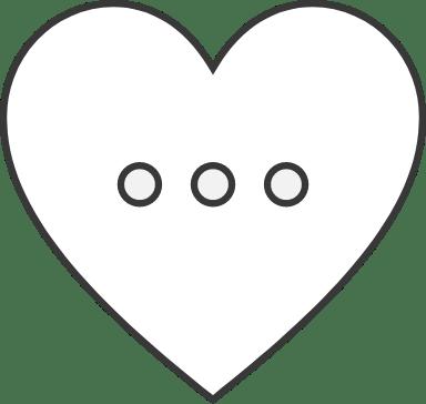 Ellipsis Heart