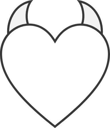 Plain Horned Heart