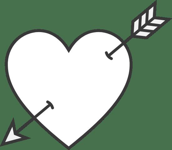 Down Arrow Heart