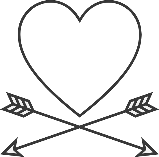 Crossed Arrows Heart