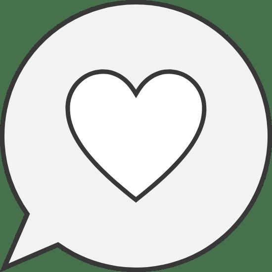 Heart Speech Bubble