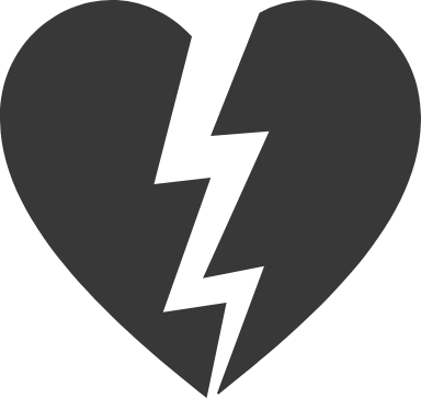 Lightning Split Heart