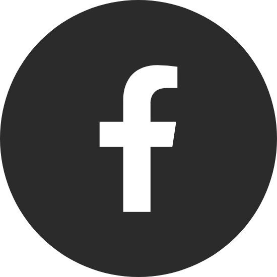 Round Black Facebook