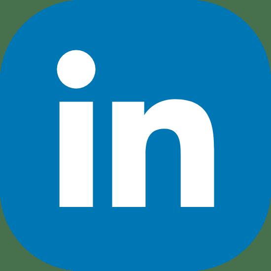 Solid Blue LinkedIn