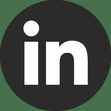 Round Black LinkedIn