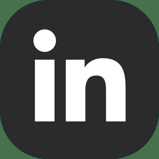 Solid Black LinkedIn