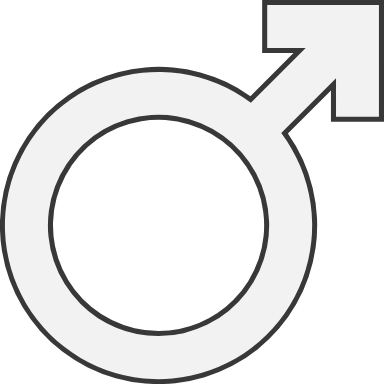 Outlined Male Sign