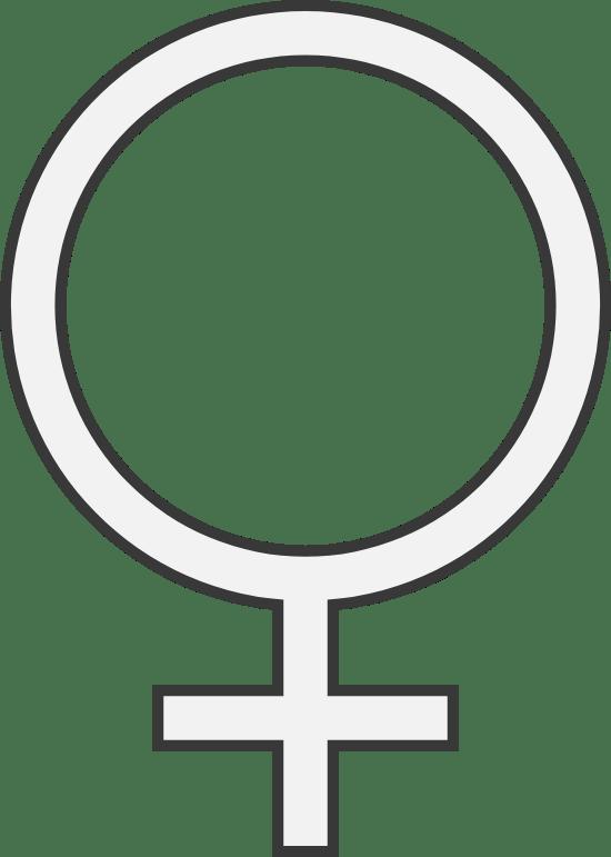 Inset Female Sign
