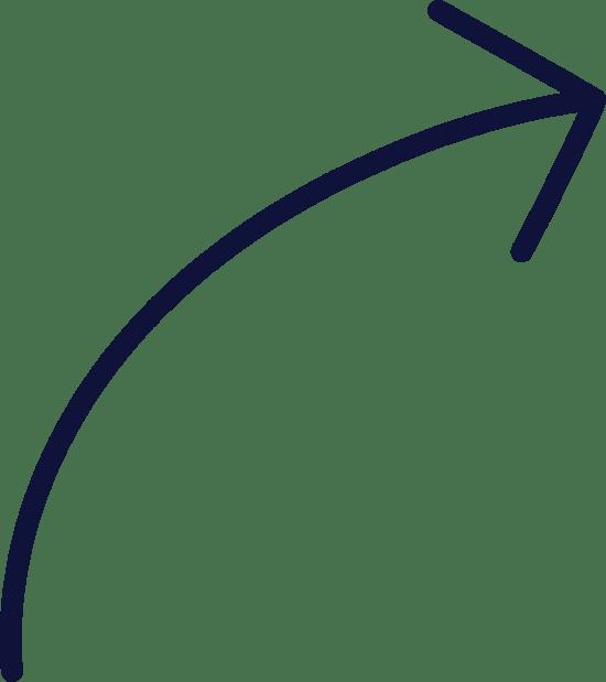 Plain Curved Arrow