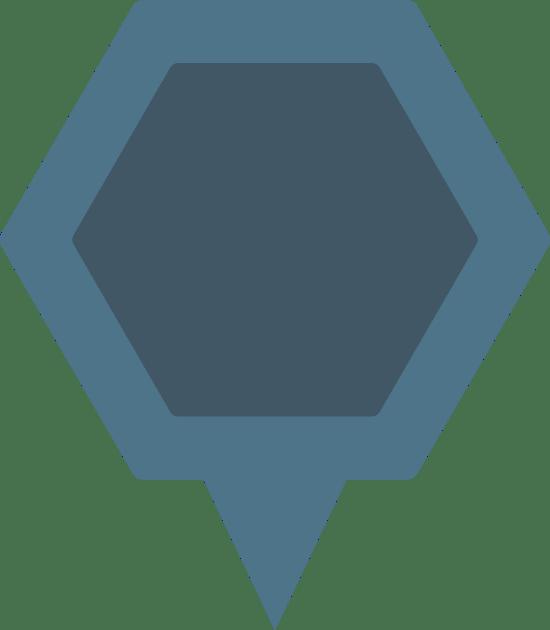 Hexagon Map Pin