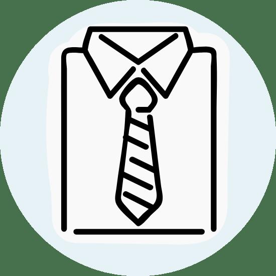 Basic Shirt & Tie
