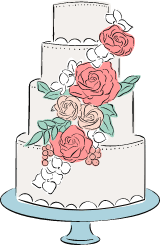 Four-Tiered Wedding Cake