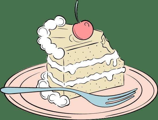 Wedding Cake Slice