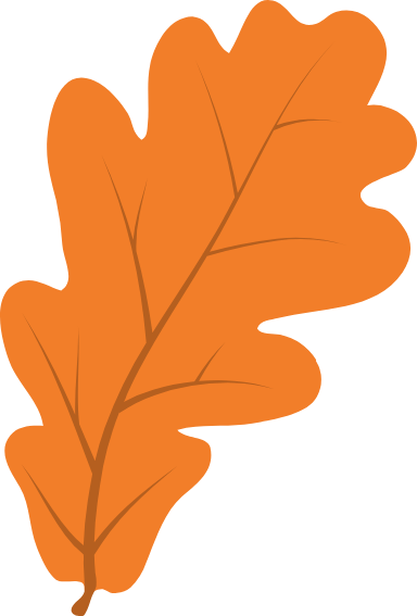 Clear Oak Leaf