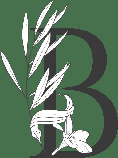 "Leafy Letter ""B"""