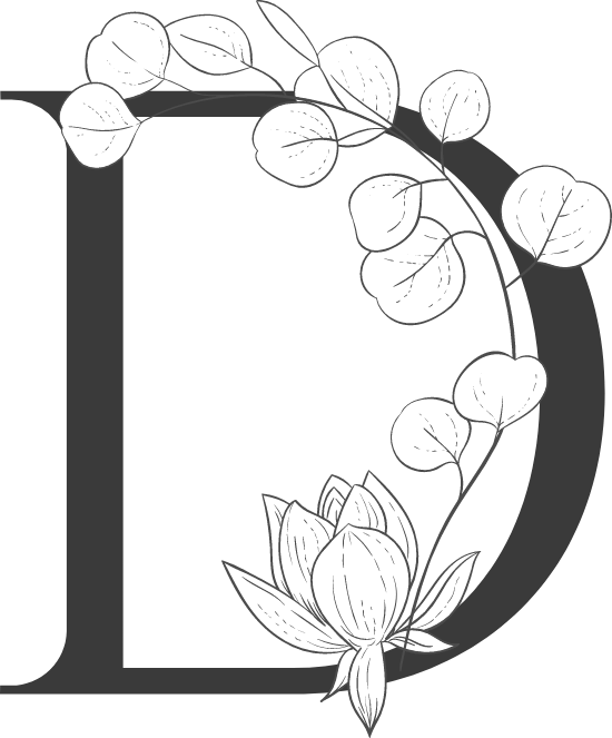"Leafy Letter ""D"""