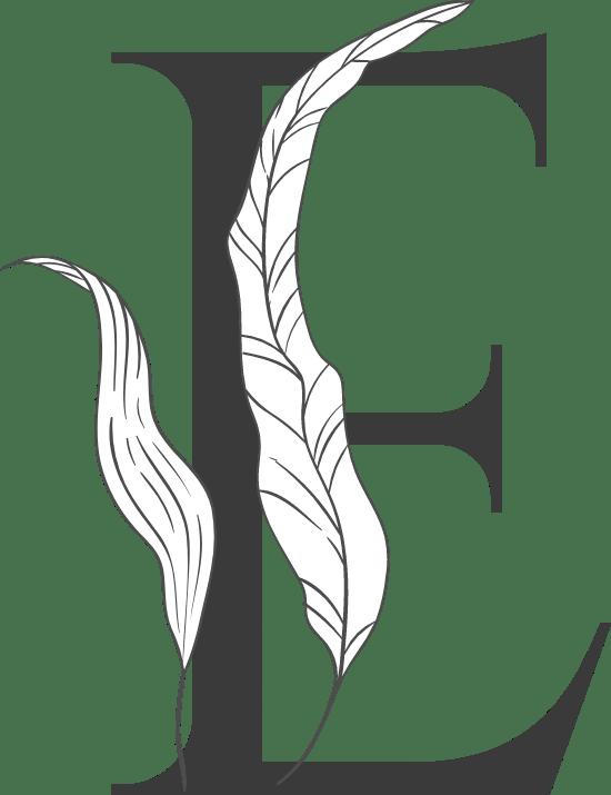 "Leafy Letter ""E"""