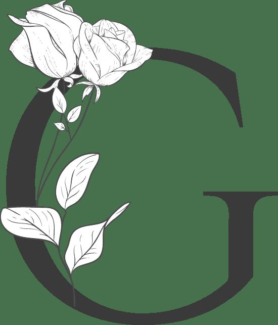 """Leafy Letter """"G"""""""