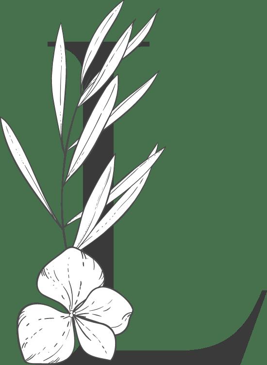 """Leafy Letter """"L"""""""