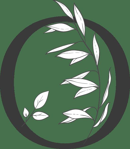 "Leafy Letter ""O"""