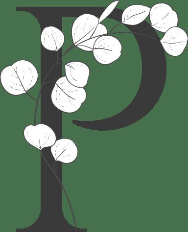 "Leafy Letter ""P"""