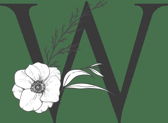 """Leafy Letter """"W"""""""