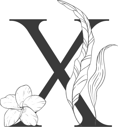 """Leafy Letter """"X"""""""
