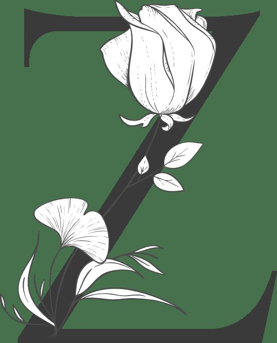 "Leafy Letter ""Z"""