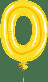 """Foil Balloon """"O"""""""